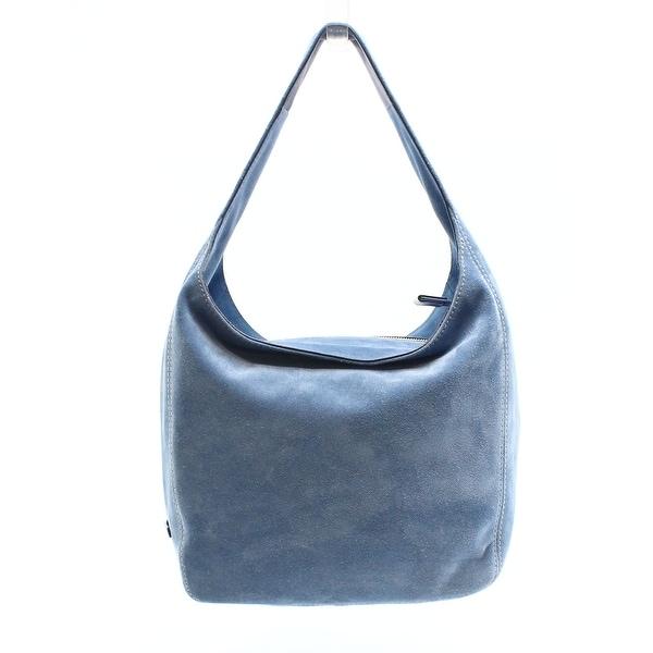 a4826de723e2 Michael Kors NEW Blue Denim Suede Leather Lena Large Shoulder Bag Purse