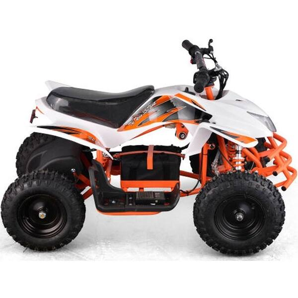 Shop MotoTec White 24v Mini Quad Titan v5 - Free Shipping