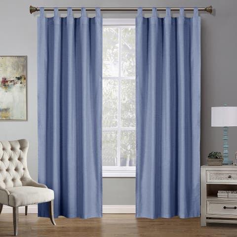 Country Living Handkerchief Window Panel Pair - N/A