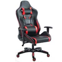 Costway Gaming Chair High Back Racing Recliner Office Chair w/Lumbar Support & Headrest