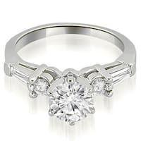 0.95 CT.TW Baguette and Round Diamond Engagement Ring - White H-I