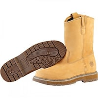 Muck Boot's Wellie Men's Wheat Work Boot w/ Hydroguard Membrane - Size 9.5