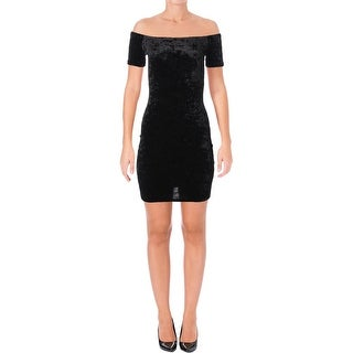 Aqua Womens Casual Dress Velvet Stretch