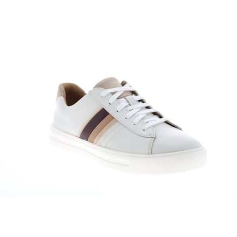 Clarks Un Maui Band White Womens Lifestyle Sneakers