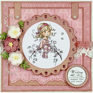 """Wee Stamps Topper Sheet 8.3""""X12.2"""" -Sweet Blossom"""