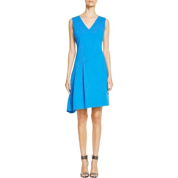 T Tahari Womens Jensen Wear to Work Dress Pleated Asymmetric