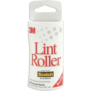 "Scotch Lint Roller Refill-30 Sheets 4""X15.2'"