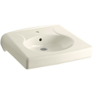"""Kohler K-1997-1 Brenham 14-3/8"""" Wall Mounted Bathroom Sink with 1 Hole Drilled and Overflow"""