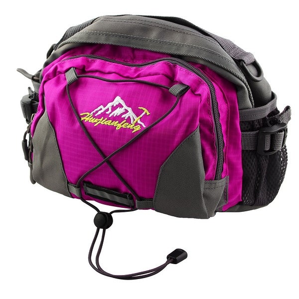 HWJIANFENG Authorized Single Shoulder Pack Adjustable Sports Waist Bag Fuchsia