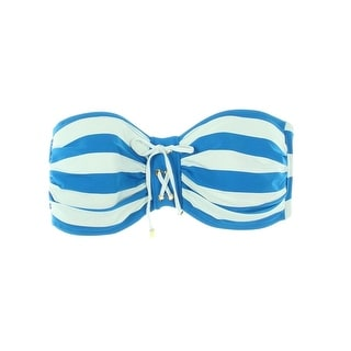 Bleu Rod Beattie Womens Striped Bandeau Swim Top Separates - 12