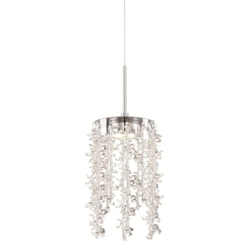 "Platinum PCLM1505 Luminous LED 5"" Wide Pendant with Clear Glass"