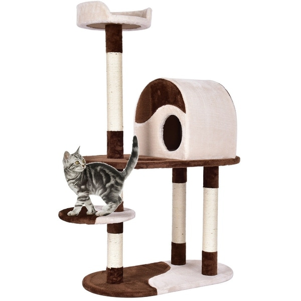 W Furniture: Shop Gymax 48'' Cat Tree Kitten Activity Tower Furniture