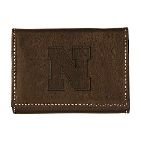 University of Nebraska Contrast Stitch Trifold Leather Wallet