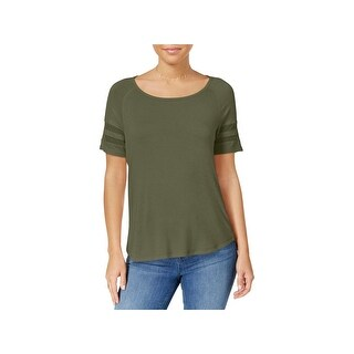 Hippie Rose Womens Juniors T-Shirt Mesh Inset Short Sleeves (2 options available)