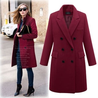 Large Size Windbreaker Women's Long Woolen Coat