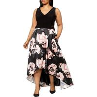 X by Xscape Womens Plus Party Dress Sleeveless Hi-Low