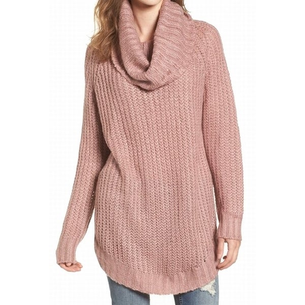 f8641d3b73 Shop Dreamers Blush Pink Womens Size Small S Knitted Cowl Neck Sweater - On  Sale - Free Shipping On Orders Over  45 - Overstock.com - 22531018