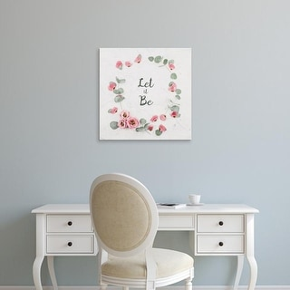 Easy Art Prints 'Let It Be' Premium Canvas Art