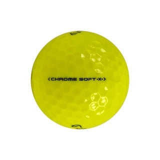 12 Callaway Chrome Soft X Yellow - Mint (AAAAA) Grade - Recycled (Used) Golf Balls