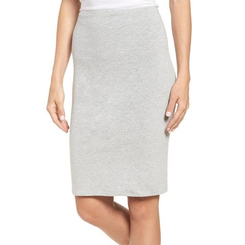 Gibson Women's Skirt Heather Gray Size PXS Petite Straight Pencil