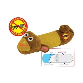 Petstages Stuffing Free Lil' Squeak Monkey Brown / Yellow