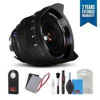 Zeiss Distagon T* 15mm f/2.8 for M Mount Cameras Black - 1457-856 with Cleaning Accessory Kit and 2 Year Extended Warranty