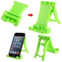Unique Bargains Green Folding Universal Portable Multi Stand Holder for iPad 1 2 3
