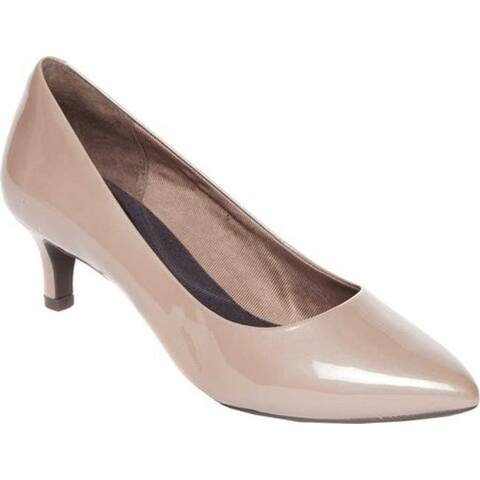 Rockport Women's Total Motion Kalila Pump Taupe Grey Pearl Full Grain Leather