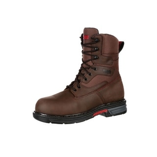 "Rocky Work Boots Mens 8"" Ironclad LT Waterproof Leather Brown RKK0178"