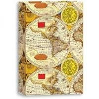 "Pioneer 3-Ring 4"" x 6"" Photo Album (World Map Print)"
