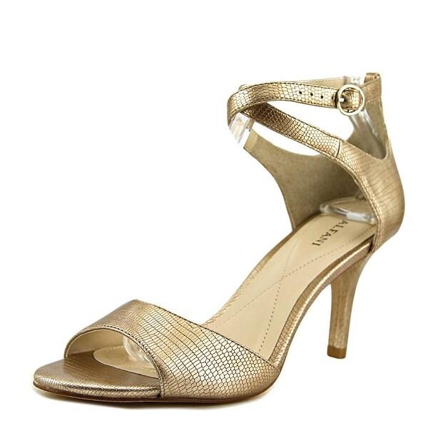 Alfani Ginnii Women Open-Toe Suede Gold Heels