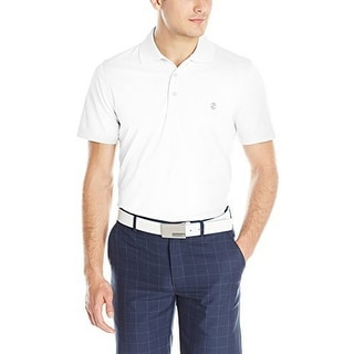 Izod Mens Performance Golf Grid Polo, White