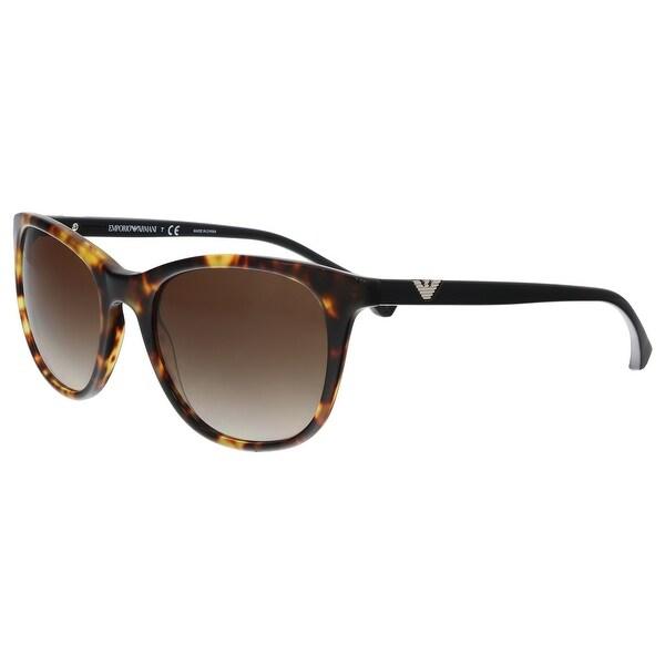 d912c33f2e6 Emporio Armani EA4086 567713 Blonde Havana Rectangle Sunglasses - 54-19-140