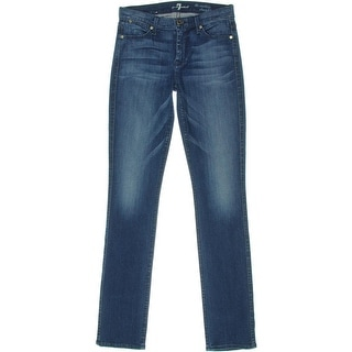 7 For All Mankind Womens The Modern Straight Stretch Denim Straight Leg Jeans - 27