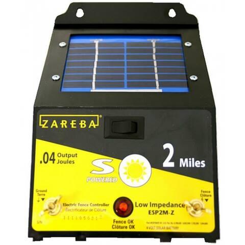 Zareba ESP2M-Z 2 Mile Solar Fence Charger, 2 Mile
