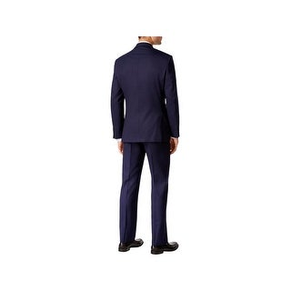 DKNY Mens Two-Button Suit Wool Slim Fit