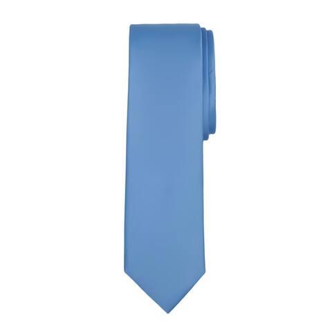 "Jacob Alexander Men's Slim Width 2.75"" Solid Color Tie - One Size"