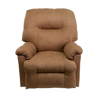 Offex Contemporary Calcutta Camel Microfiber Power Chaise Recliner