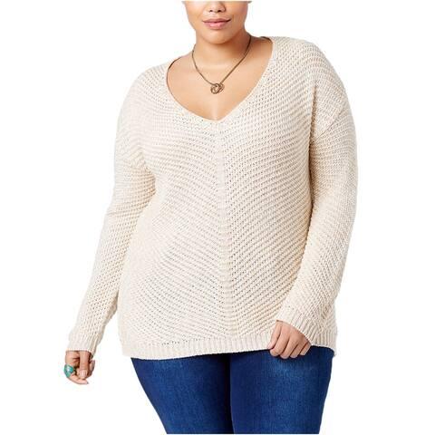 American Rag Womens Contrast-Back Knit Sweater
