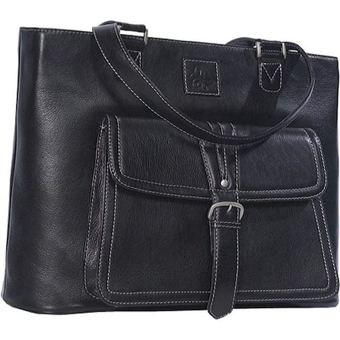 Clark & Mayfield Women's Stafford Pro Leather Laptop Tote Black - US Women's One Size (Size None)