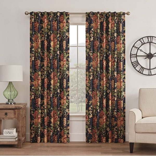 2 panels Waverly sun and shade fishbowl curtains from small window curtains through 2 story drapes choose your length