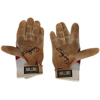 Jimmy Rollins Signed Game Used Phillies Nike Batting Gloves 5 BAS Rollins LOA