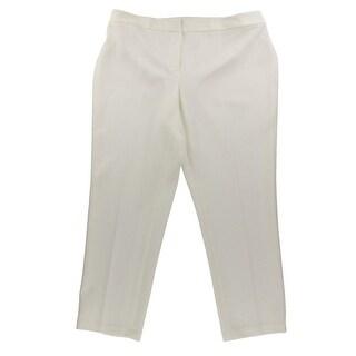 Kasper Womens Plus Kristy Pants Slim Fit Pique