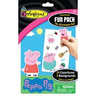 Peppa Pig - Colorforms(R) Fun Pack Re-Stickable Sticker Set