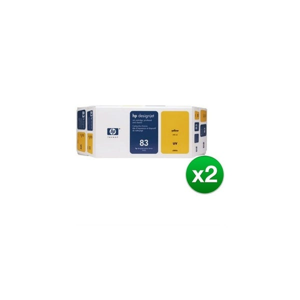 HP 83 Ink Cartridge - Yellow (C5003A) (2-Pack)