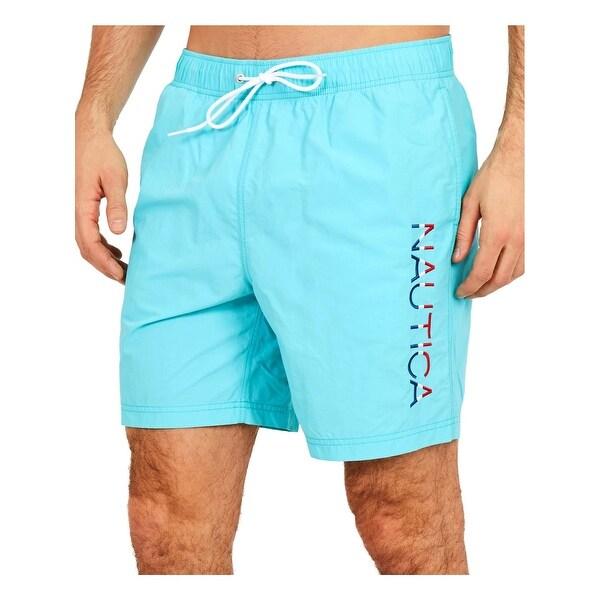 f179355bc5 Shop Nautica Mens Quick Dry Board Shorts Swim Trunks - L - Free ...