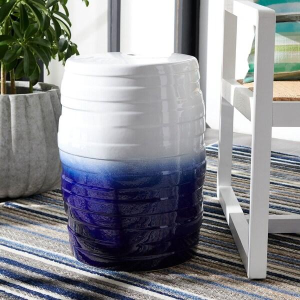 Safavieh Katrice Indoor/ Outdoor Blue Ombre Ceramic Decorative Garden Stool. Opens flyout.