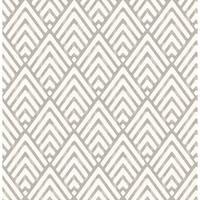 Brewster 2625-21825 Vertex Charcoal Diamond Geometric Wallpaper - N/A