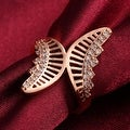 Hollow Rose Gold Butterfly Ring - Thumbnail 2