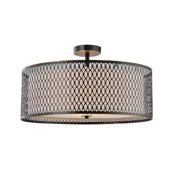 """Woodbridge Lighting 16635 Spencer 3-Light 16-15/16"""" Diameter Semi-Flush Ceiling Fixture - n/a"""